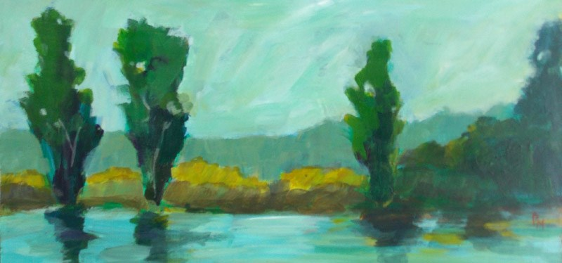 """""""Turquoise Lake"""" original fine art by Pamela Munger"""