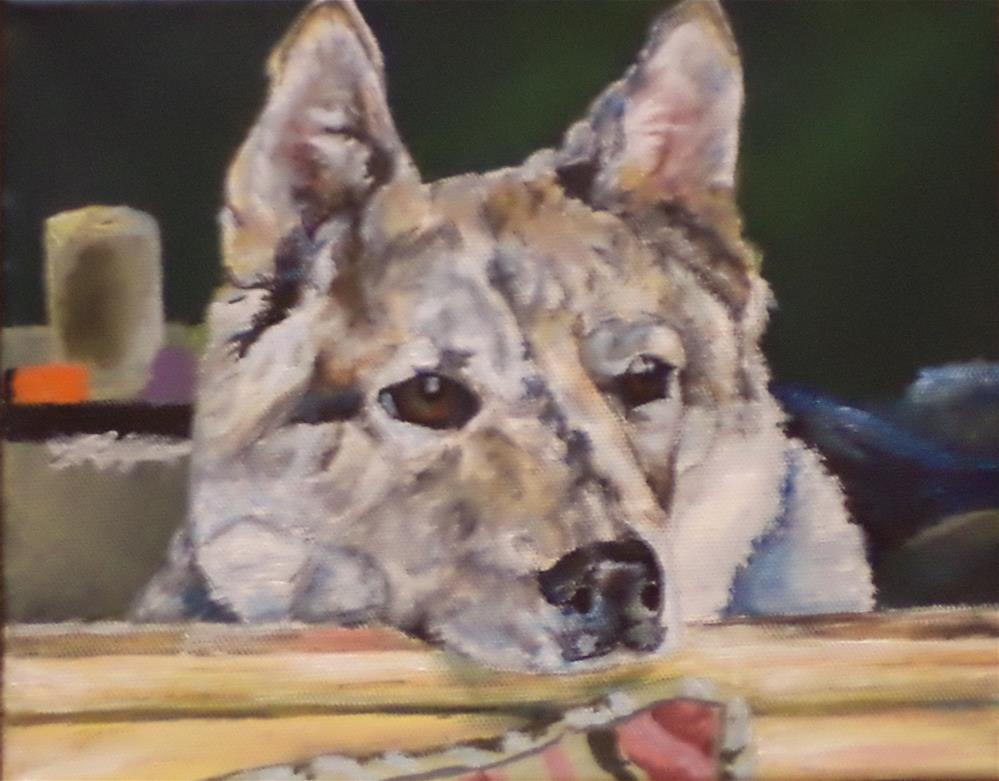 """Commissioned Portrait of a dog"" original fine art by tara stephanos"