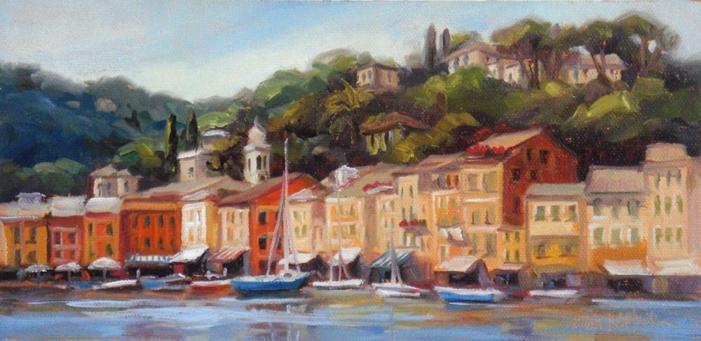 """""""Picturesque Portofino"""" original fine art by Erin Dertner"""