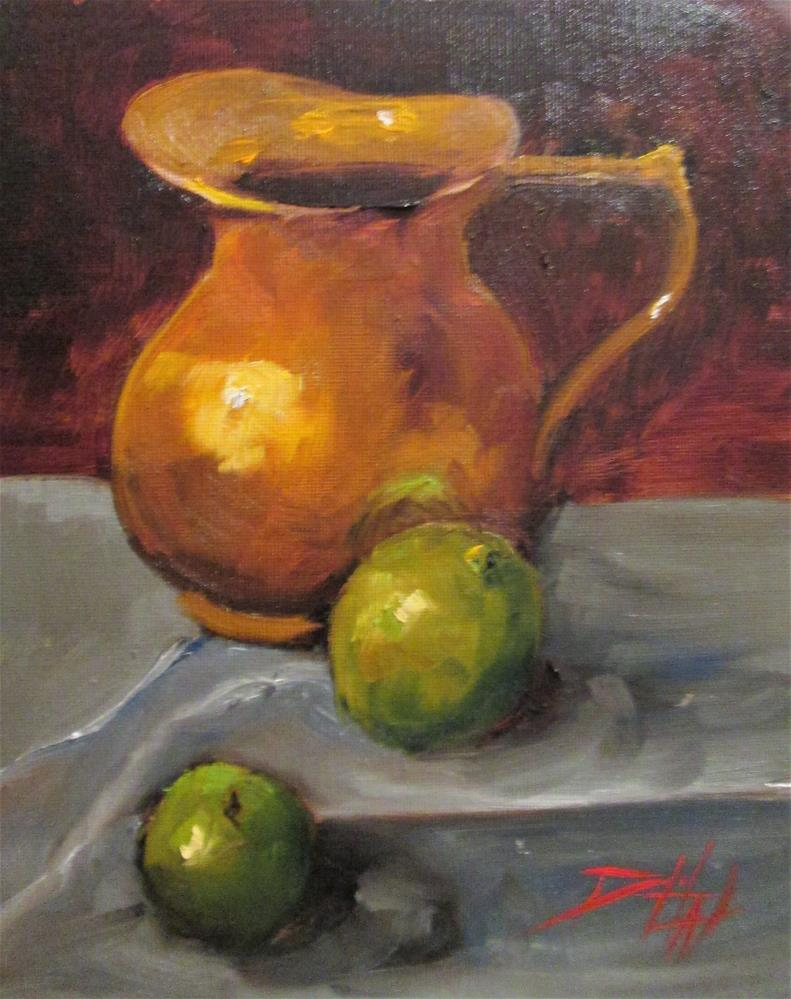 """""""Copper and Limes"""" original fine art by Delilah Smith"""
