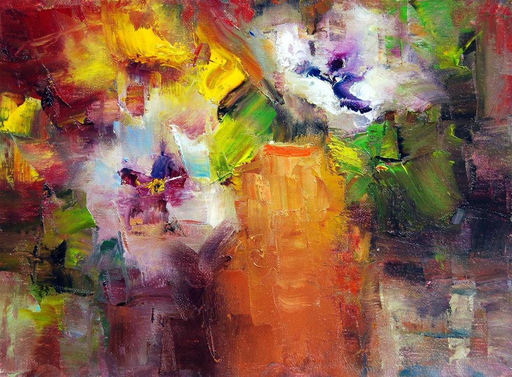"""""""Pansy Time #7"""" original fine art by Julie Ford Oliver"""