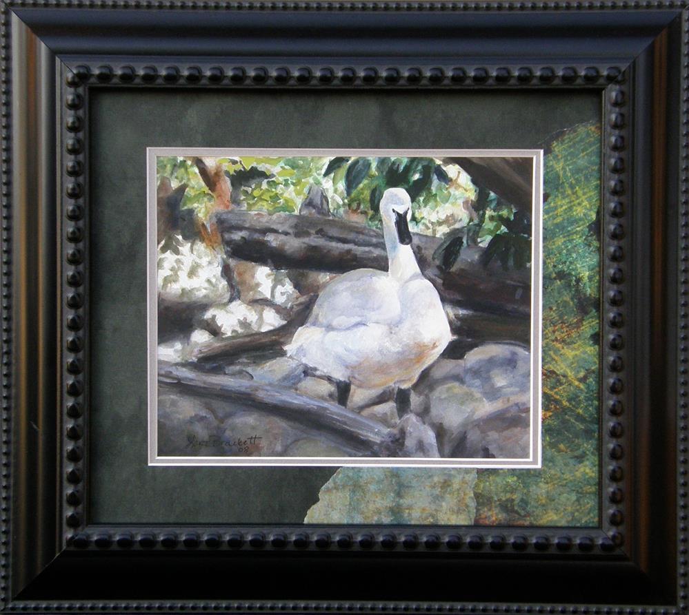 """The Swan"" original fine art by Lori Brackett"
