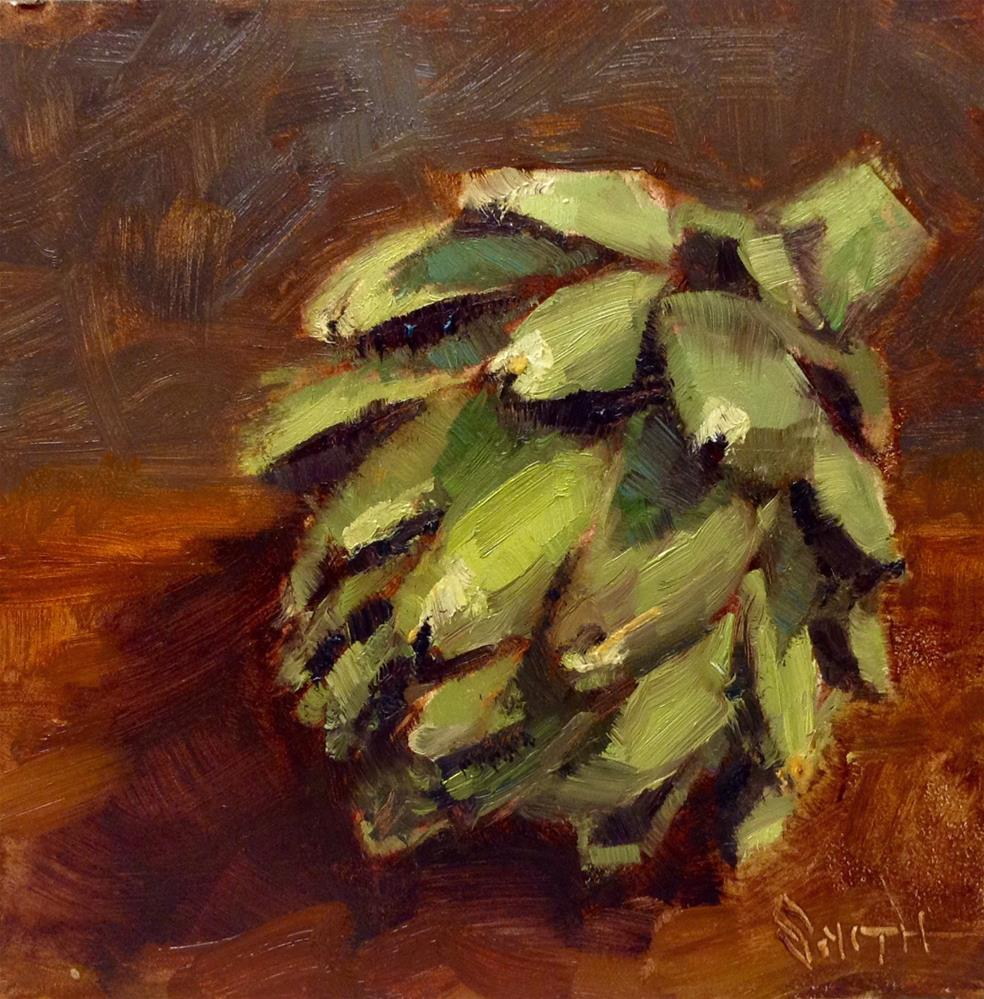 """Artichoke #1"" original fine art by Barbie Smith"