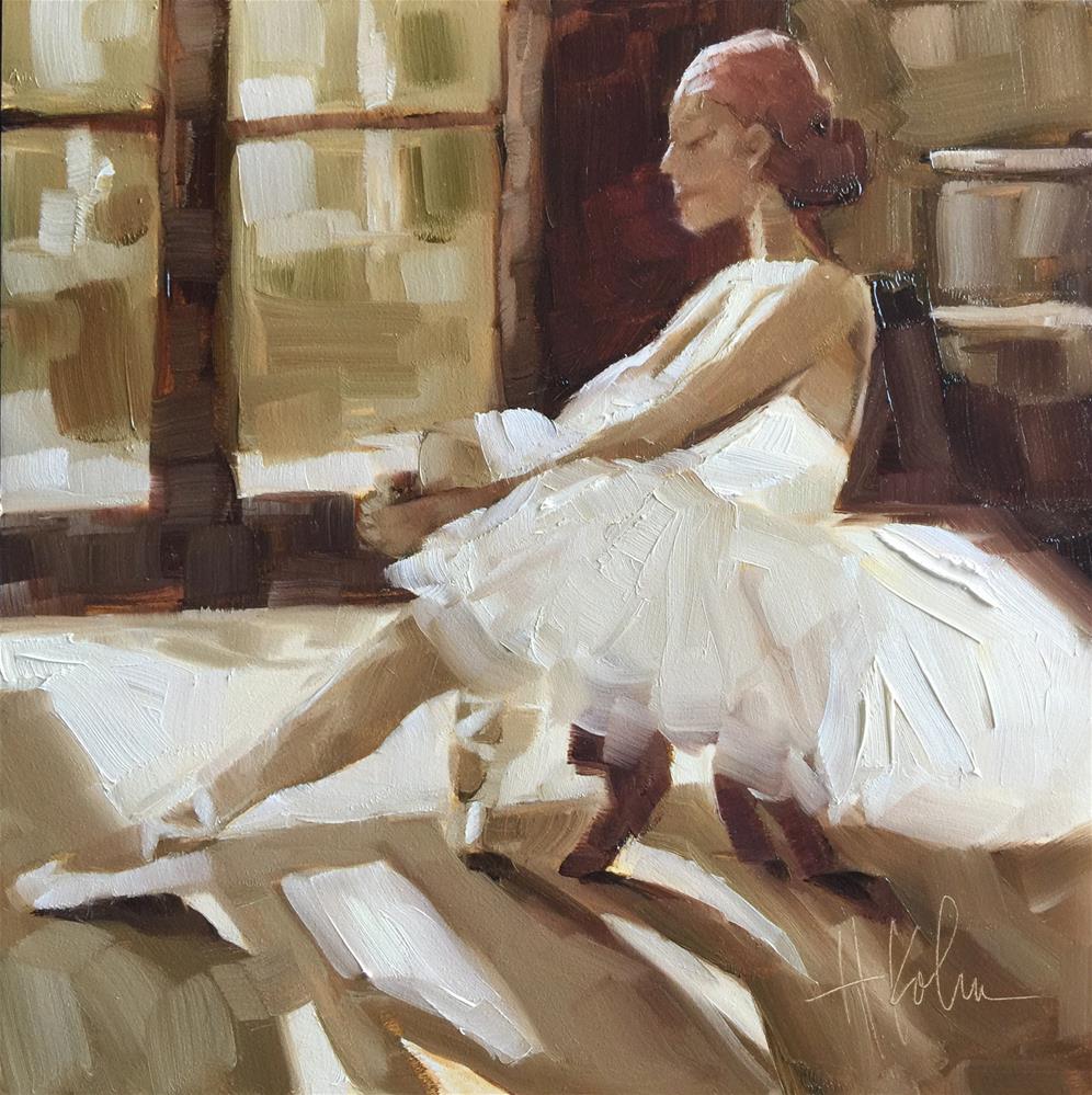 """""""Vintage Dancer"""" original fine art by Hallie Kohn"""