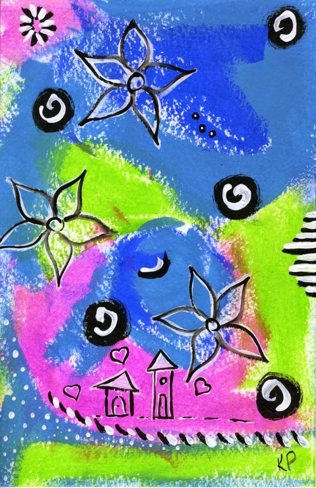 """Houses of Love"" original fine art by Kali Parsons"