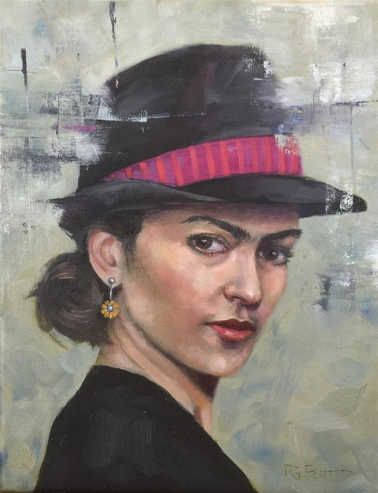 """Frida Fashionista"" original fine art by Rhea  Groepper Pettit"