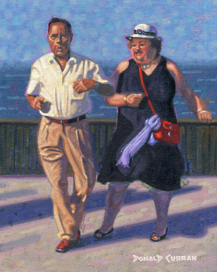"""Boardwalk Boogie"" original fine art by Donald Curran"