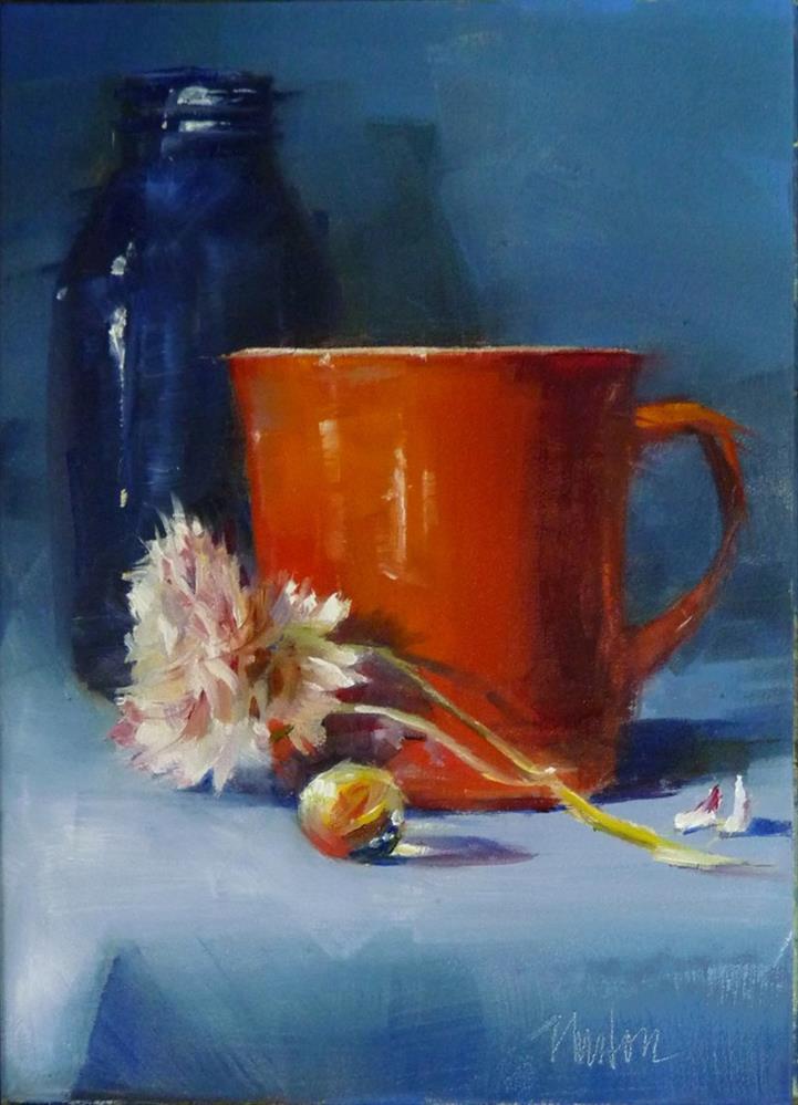 """""""Orange Cup"""" original fine art by Barbara Benedetti Newton"""