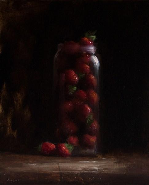 """Jar of Strawberries"" original fine art by Neil Carroll"