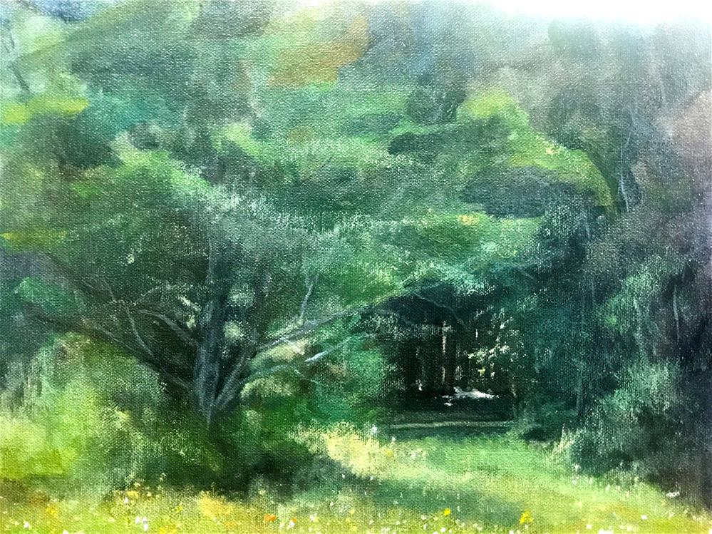 """sunny path into the woods"" original fine art by Betty Argiros"