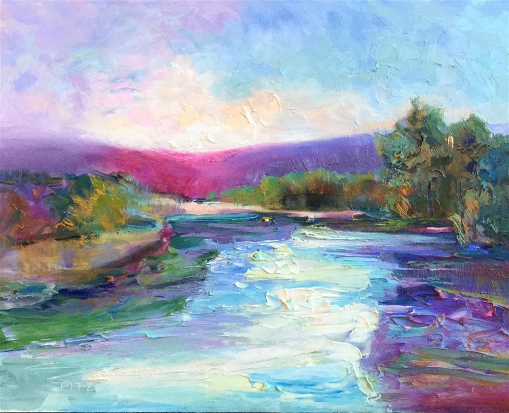 """Impasto Landscape 54"" original fine art by Charlotte Fitzgerald"