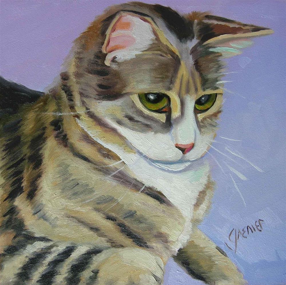 """""""Tiger Kittie"""" original fine art by jean grenier"""