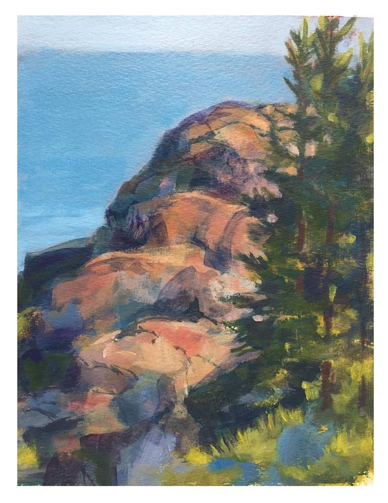 """Gull Rock From Burnt Head"" original fine art by Suzanne Woodward"