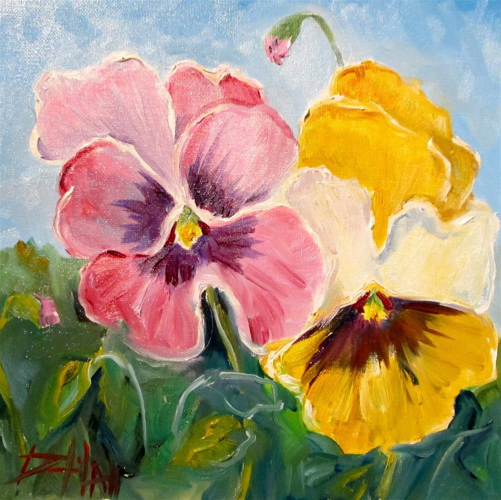 """""""Pansies No. 3"""" original fine art by Delilah Smith"""