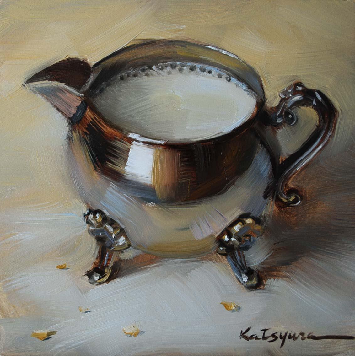 """Milk in Silver"" original fine art by Elena Katsyura"