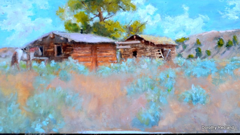 """The double cabins"" original fine art by Dorothy Redland"