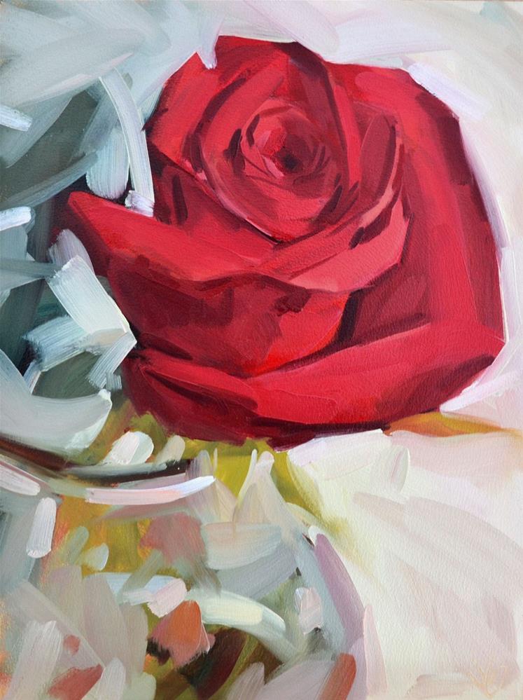 """Single Rose"" original fine art by Jessica Green"