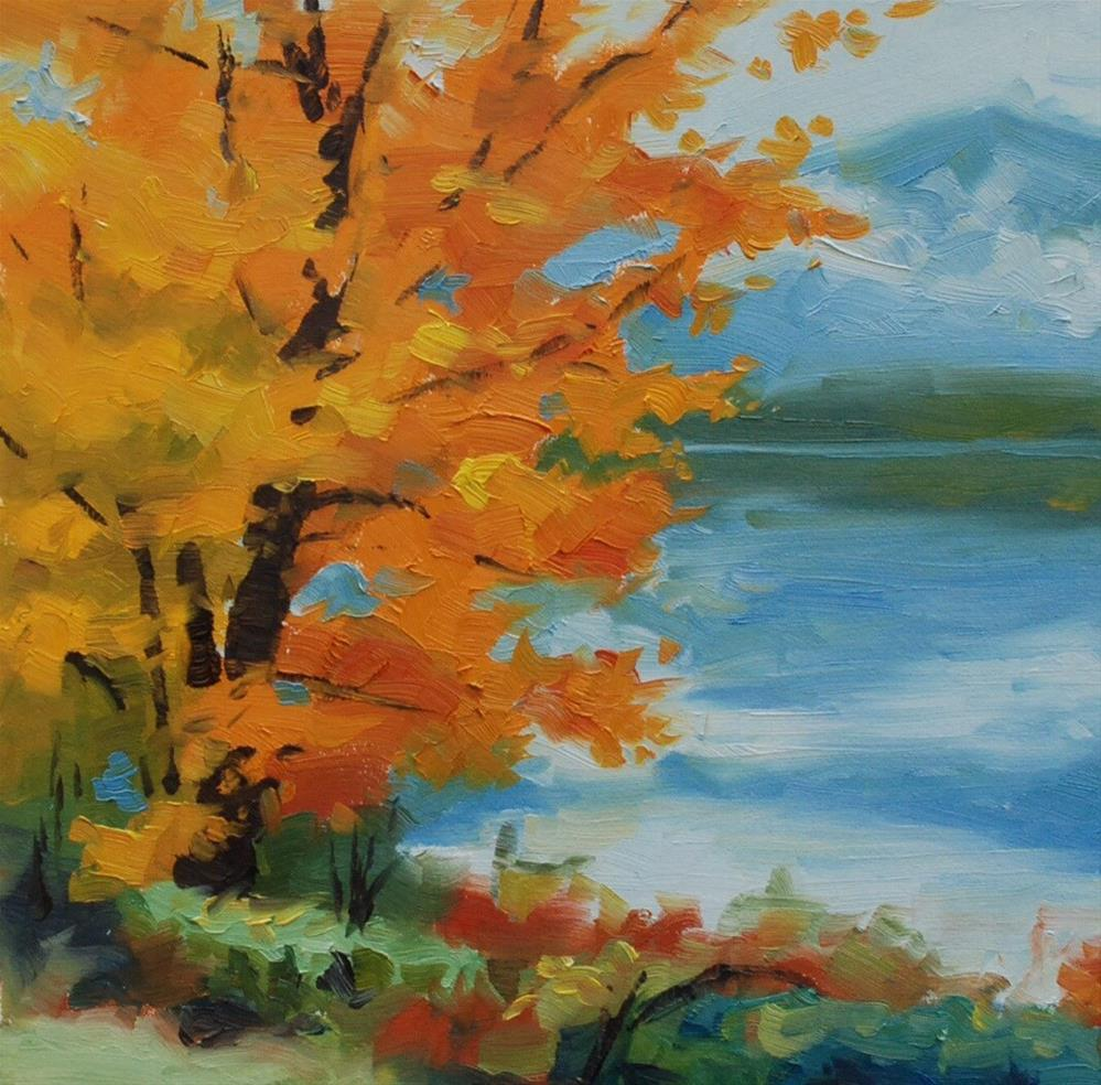 """Fall on Lake Quinault"" original fine art by Susan McManamen"