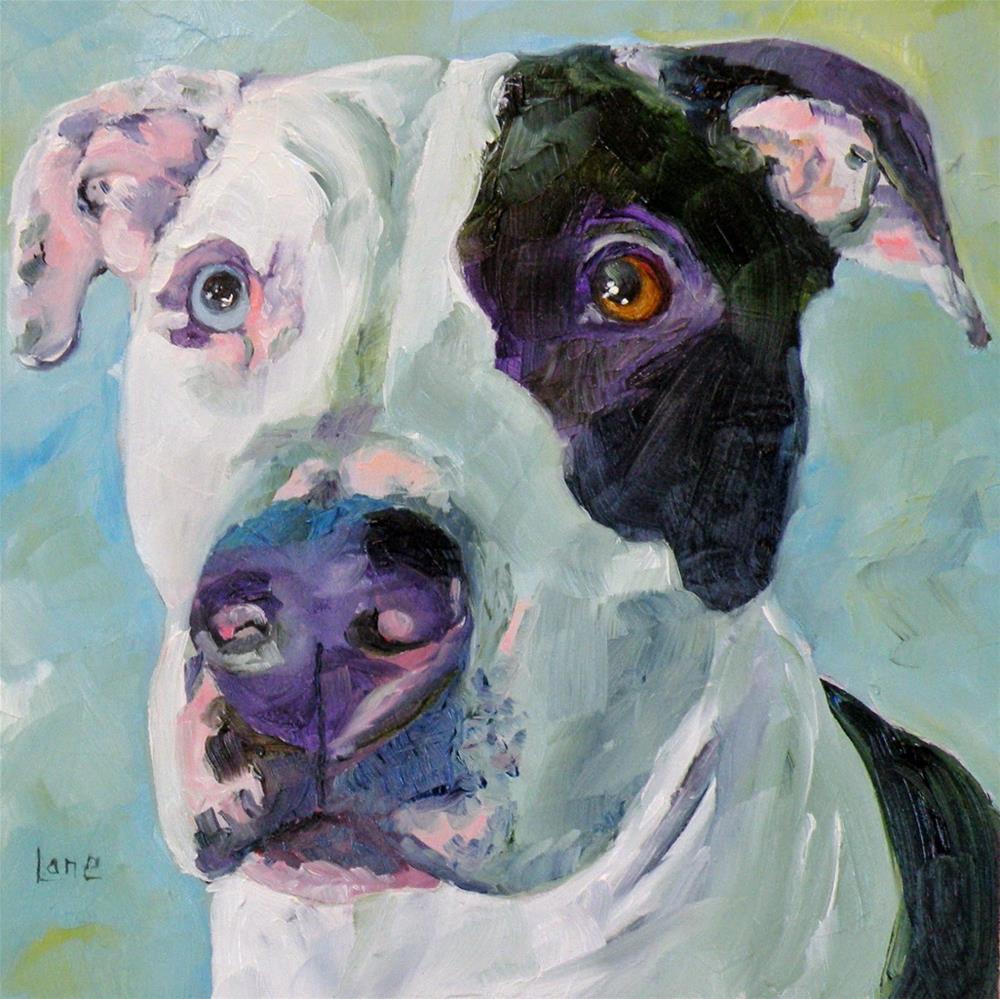 """TERRA 62/101 OF 101 PET PORTRAITS IN 101 DAYS © SAUNDRA LANE GALLOWAY"" original fine art by Saundra Lane Galloway"