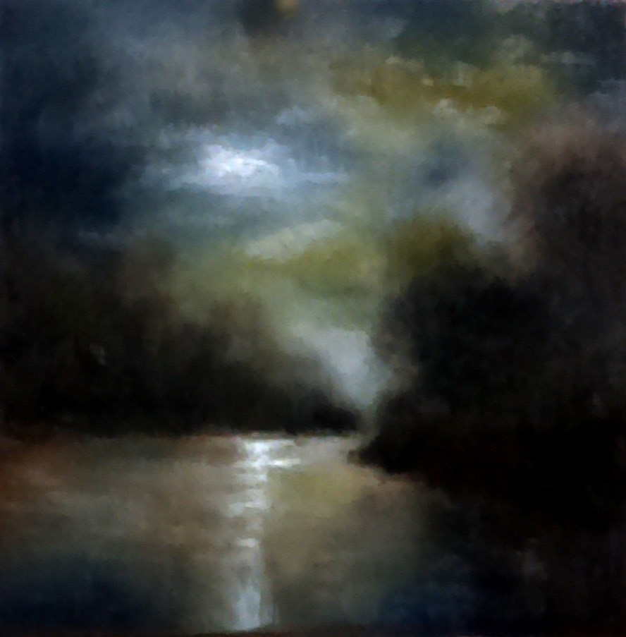 """Stormy Skies Over the River"" original fine art by Bob Kimball"