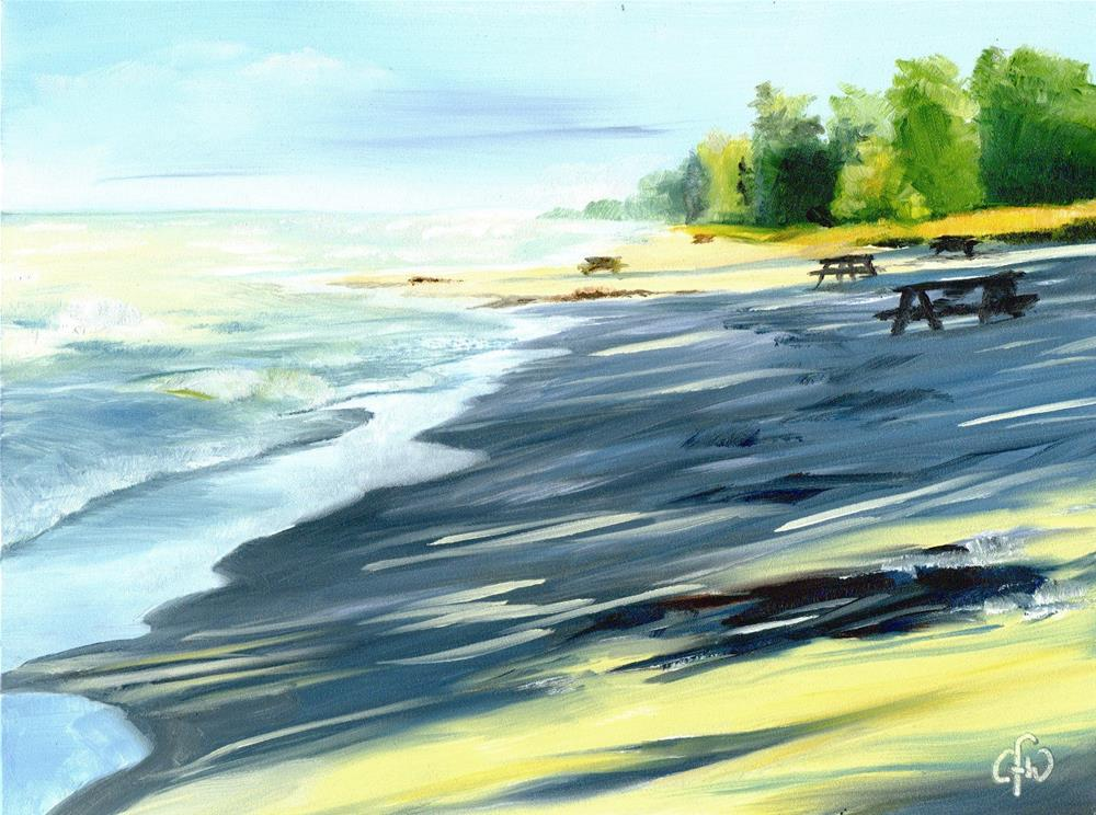 """""""Beach at the End of the Day"""" original fine art by Gary Westlake"""