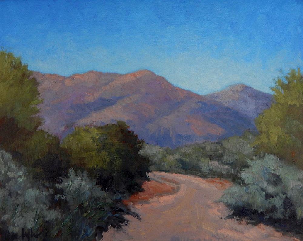 """""""Desert Garden (at Taliesen West)"""" original fine art by Lisa Kyle"""