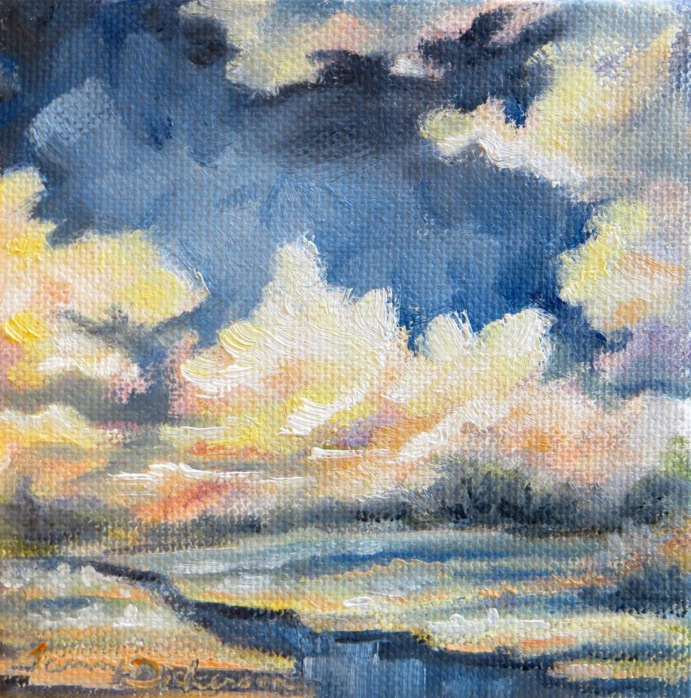 """""""Billowing Clouds"""" original fine art by Tammie Dickerson"""