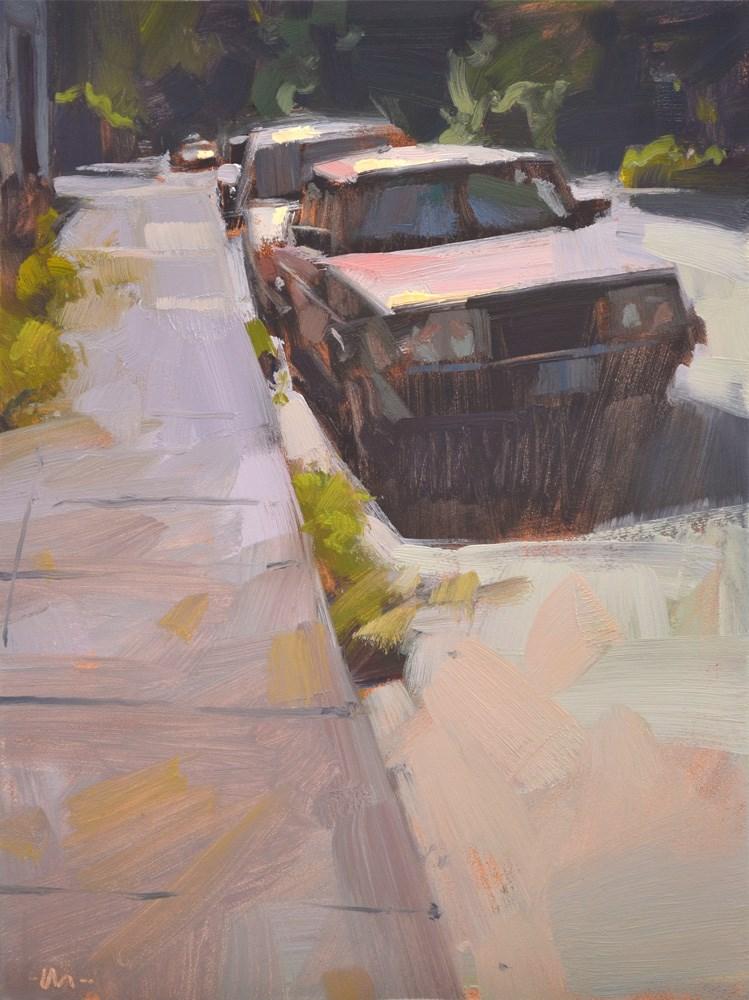 """Sun Shade Eyes"" original fine art by Carol Marine"