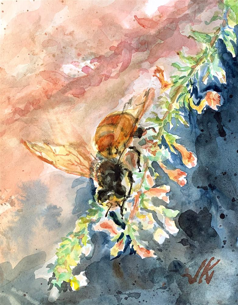 """Honey Bee"" original fine art by Jean Krueger"