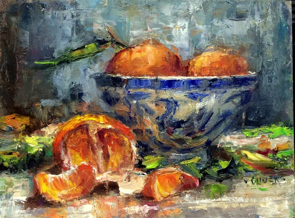 """""""Tangerine Time"""" original fine art by Julie Ford Oliver"""