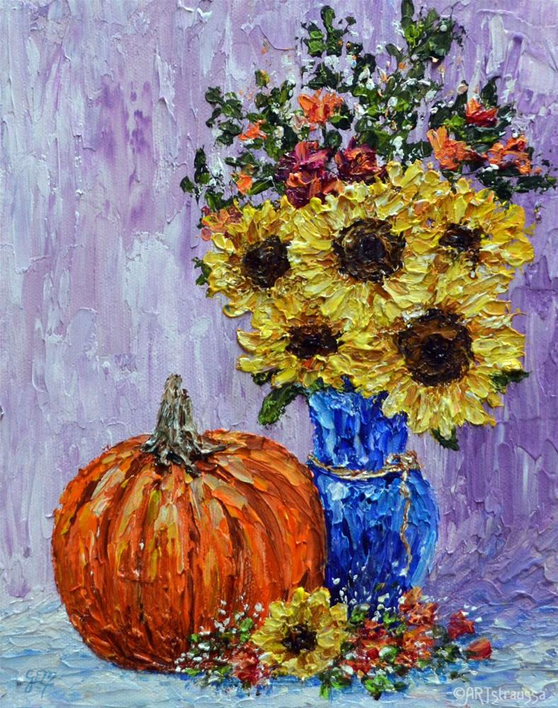 """SALE!!! An Autumn Welcoming"" original fine art by Gloria Ester"