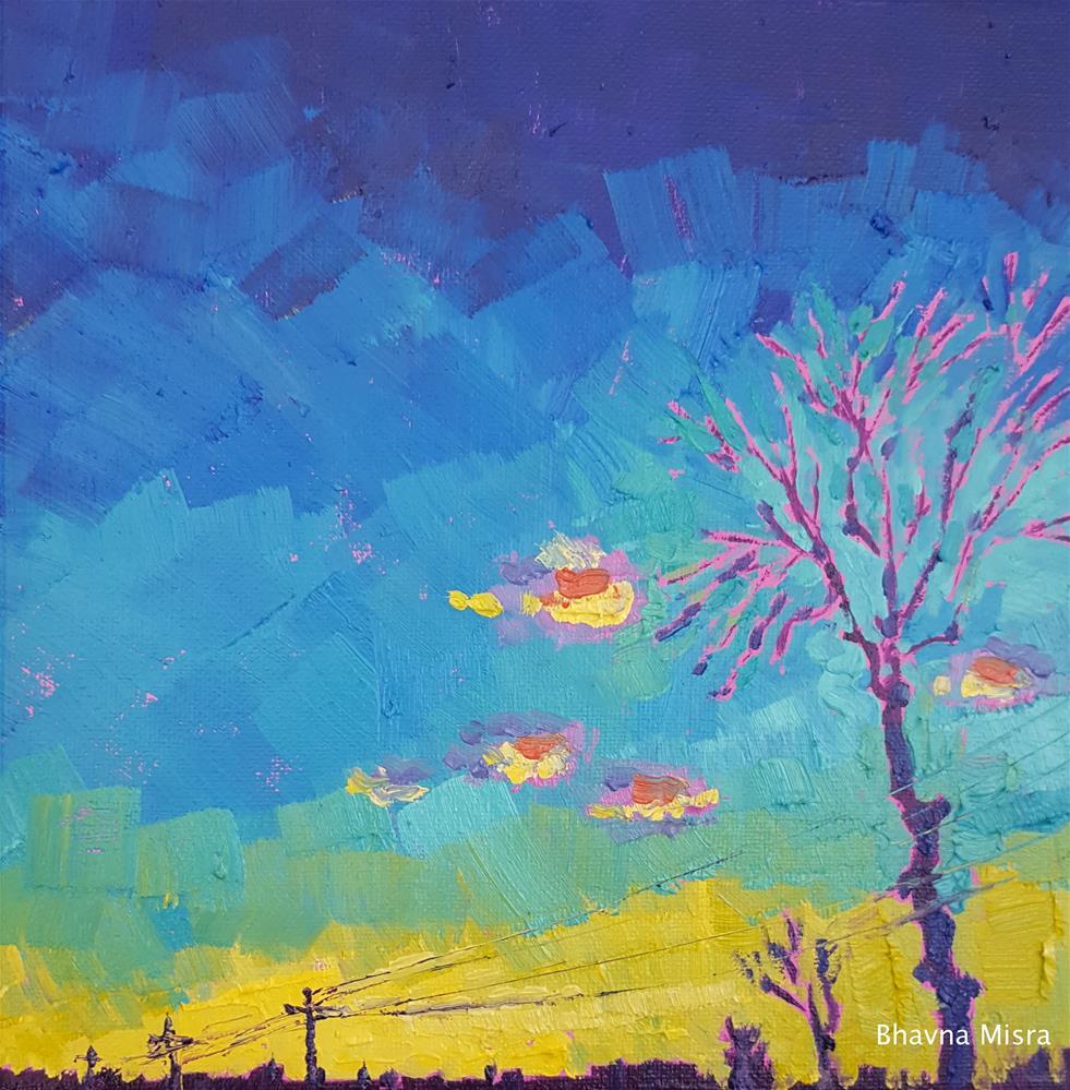 """After the Sun Sets"" original fine art by Bhavna Misra"