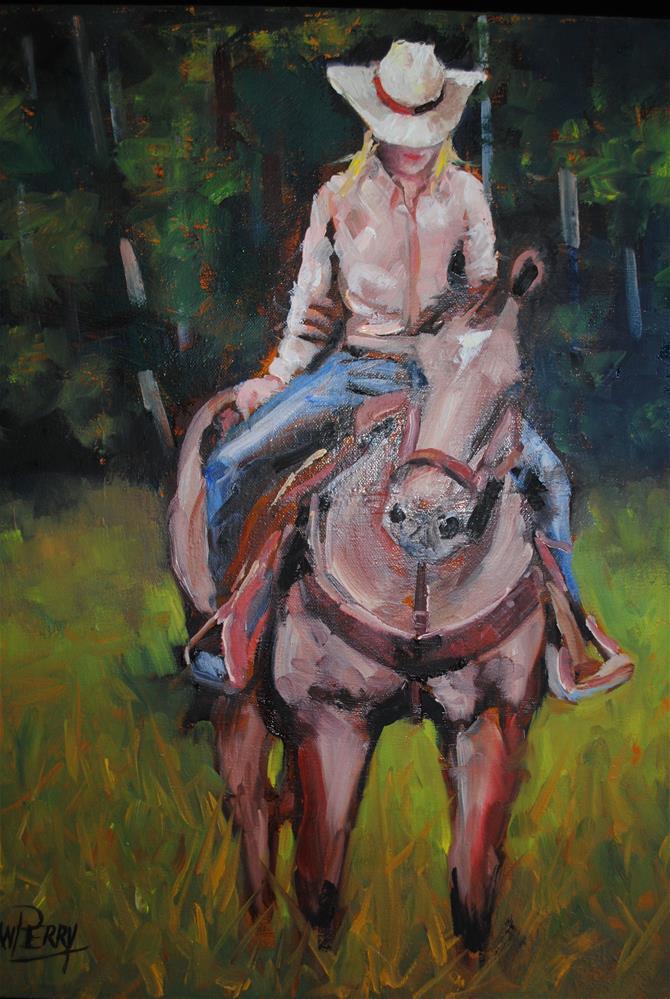 """""""Girlfriends"""" original fine art by Nan Perry"""