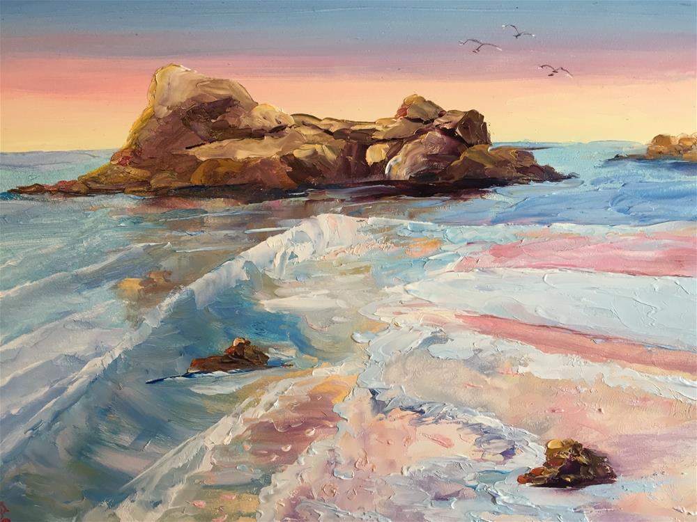 """Canon beach"" original fine art by Rose Brenner"