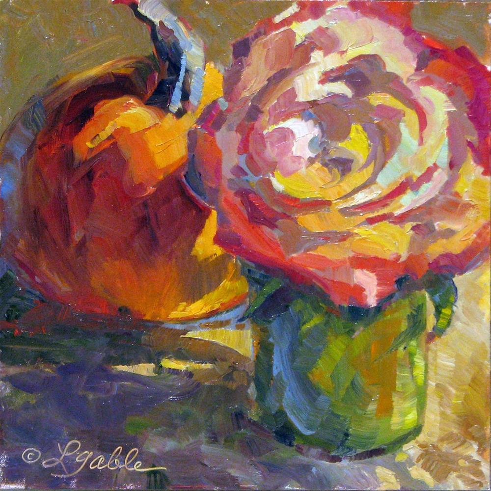 """""""Late Bloom and Harvest"""" original fine art by Laura Gable"""