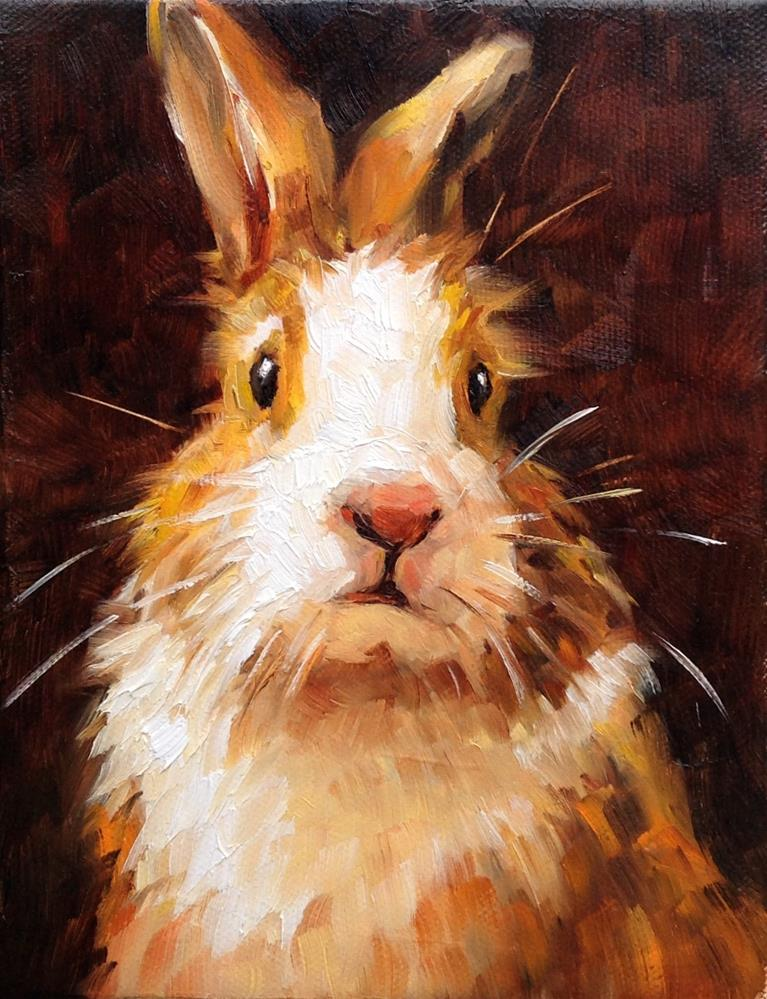 """Just a Rabbit"" original fine art by Irina Beskina"