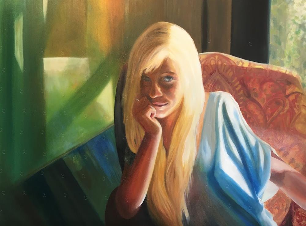 """""""Runs silent and deep"""" original fine art by Karen Stitt"""