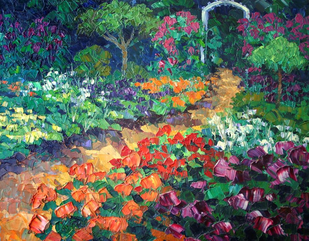 """Rose Garden"" original fine art by K.R. McCain"
