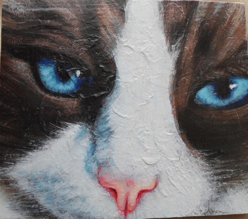 """Blue Eyes"" original fine art by Karen Roncari"