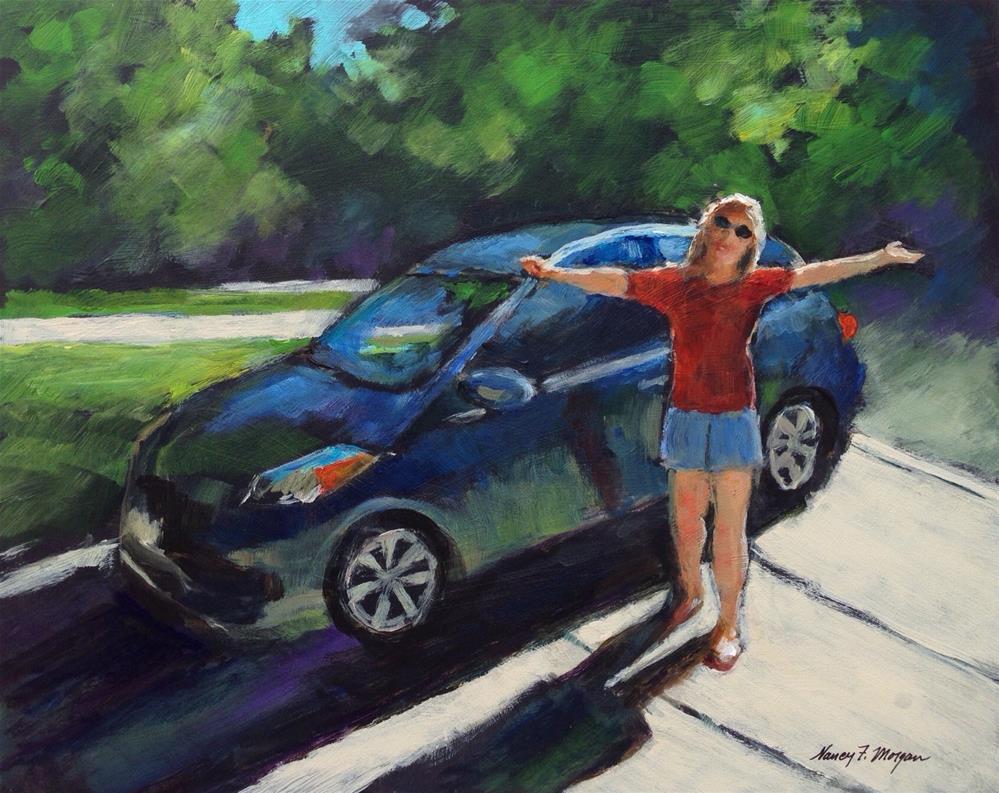 """The Places You'll Go"" original fine art by Nancy F. Morgan"