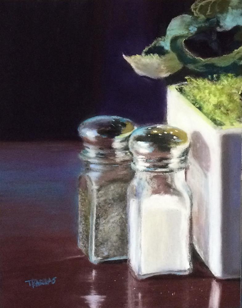 """""""Salt and Pepper Anyone?"""" original fine art by Christina Karras"""