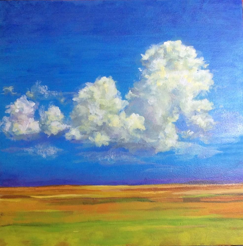 """""""Prairie Clouds"""" original fine art by wendy black"""