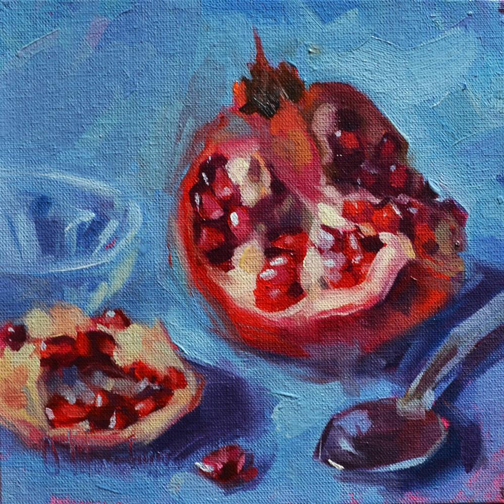 """Pomegranate"" original fine art by Oleksii Movchun"