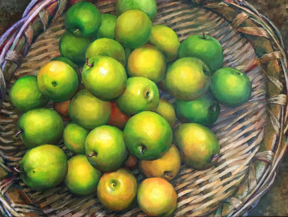 """apples"" original fine art by Joy Cai"