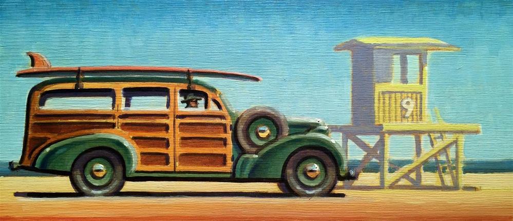 """""""Longboarder"""" original fine art by Robert LaDuke"""