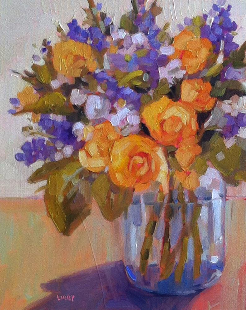 """Yellow Roses"" original fine art by Libby Anderson"