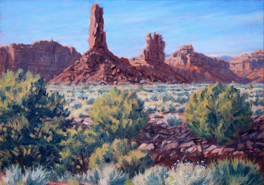 """""""C1657 """"Afternoon in the Valley of the Gods"""" (Utah)"""" original fine art by Steven Thor Johanneson"""