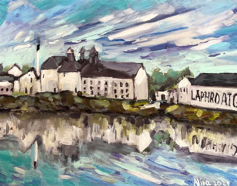 """""""Laphroaig Distillery"""" original fine art by Alina Vidulescu"""