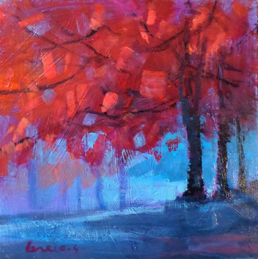 """Red tree"" original fine art by salvatore greco"