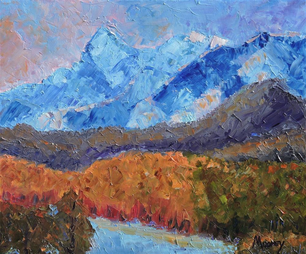 """Autumn in the Saguache Mountains"" original fine art by Linda mooney"
